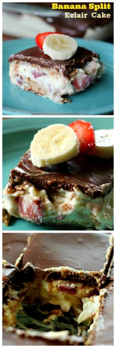 Banana Split Eclair Cake – The Baking ChocolaTess