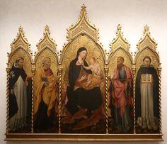 Giovanni di Paolo - Madonna col Bambino e santi - 1445 - Galleria degli Uffizi, Firenze