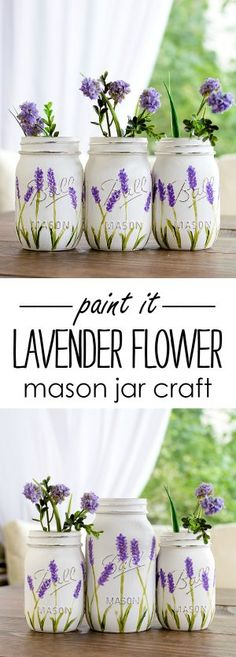 Mason Jar Craft Ideas with Paint