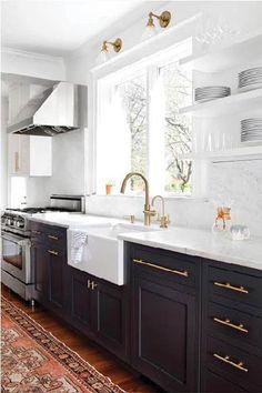Black Magic - 28 Cool Kitchen Cabinet Colors  - Photos