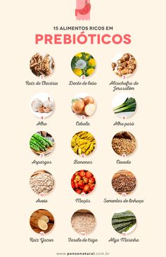 15 alimentos ricos em prebióticos