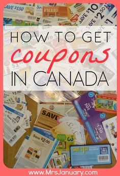 Get Canadian Coupons. Today I'm going to show you exactly how you can get coupons in Canada. For some reason, people seem to think that it's impossible to/saving money ideas/ Ways To Save Money, Money Tips, Money Saving Tips, Couponing 101, Extreme Couponing, Financial Peace, Frugal Tips, Money Matters, Money Management