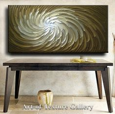 Ready Abstract Painting 60 x 30 Original Abstract by artoftexture