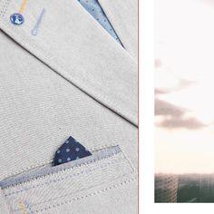 Marynarka męska ROY. Casual blazer, detail oriented, summer.