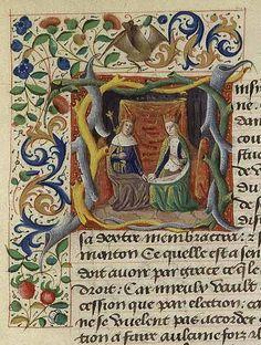 A queen from Jacques de Cessoles' Liber de Moribus hominum from 1480-1485
