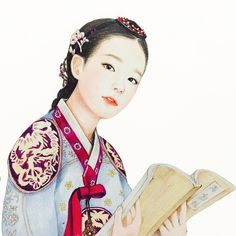 Dress Princess Korean 54 Ideas For 2019 Korean Traditional Dress, Traditional Art, Traditional Outfits, Korean Illustration, Illustration Art, Korean Art, Asian Art, Korean Tattoos, Korean Painting