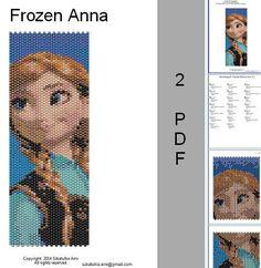 Summer Sale 15% Frozen Anna Peyote Loom Pattern by BeadingPattern