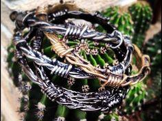 """bracciale uomo """"filo spinato"""" in bronzo"""