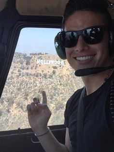 James in Hollywood. July 2015