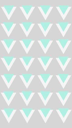 Triangles Mint & Grey