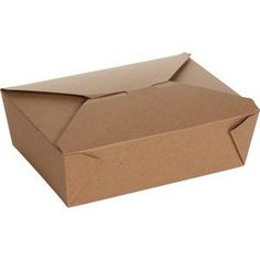 "BioPlus EARTH Recycled Take Out Container #3, 7 3/4"" x 5 1/2"" x 2 1/2"", (03BPEARTH), Recylable, Natural Kraft, Case of 200"
