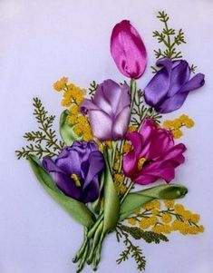 Silk ribbon embroidery ~ Home Decorating Ideas