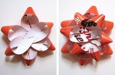 Gift bows made from old magazines!