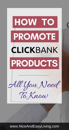 How To Promote ClickBank Products - All you need to know #blogging #affiliatemarketing #internetmarketing #makemoneyblogging #makemoneyonline #makemoneyfromhome #makemoney