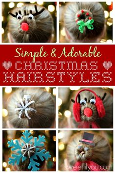 Simple Christmas Hairstyles - Sweet Lil You