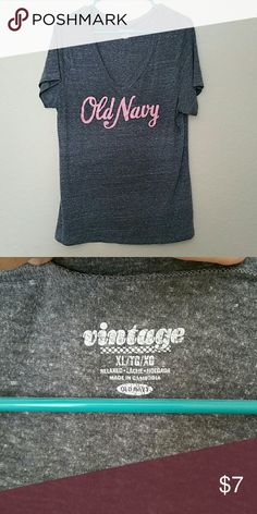 Old Navy t-shirt Very very comfortable shirt. 53% polyester 35% cotton 12% rayon. Old Navy Tops Tees - Short Sleeve