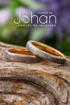 These wedding bands for women are handcrafted with authentic Gibeon meteorite by Jewelry by Johan. #JewelrybyJohan Meteorite Wedding Band, Engagement Rings, Gibeon Meteorite, Ring Crafts, Womens Wedding Bands, Jewelry, Elegant, Jewellery Making