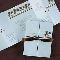 Palms of Aqua Invitation - Wedding Invitation Ideas - Wedding Invites - Wedding Invitations - View a Proof Online - Beach Theme Wedding Invitations, Wedding Invitations Online, Wedding Invitation Design, Birthday Party Invitations, Invitation Ideas, Seaside Wedding, Destination Wedding, Beach Weddings, Sweet 16 Birthday
