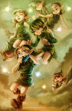 The Legend of Zelda: Ocarina of Time / Link and multiple Kokiri / 「森林コキリ」/「lilithcosa」の漫画 [pixiv] Children Of The Forest, Ocarina Of Times, Hyrule Warriors, Powerful Art, Wind Waker, Deep Forest, Twilight Princess, Cute Memes, Breath Of The Wild