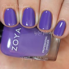 "Zoya: Summer 2015 Island Fun Collection - ""Serenity"" is a slightly dusty purple creme."