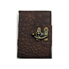 "3 1/2"" x 5"" Brown Python leather w/ latch"