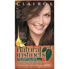 Clairol Natural Instincts Hair Color - Walmart.com  $6.92 24 Clove Medium Cool Brown