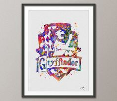Gryffindor Crest Art Print by CocoMilla