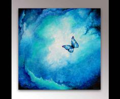 Morpho Helena   Spiritual Painting   Blue Butterfly   Signed Print   Butterfly Wall Art   Abstract Painting   Modern Painting