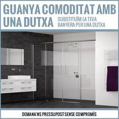Substituïm la teva banyera per una dutxa. #Tortosa #Terresdelebre #Mobles #Muebles #Bany #Baño #Reformes #Reformas