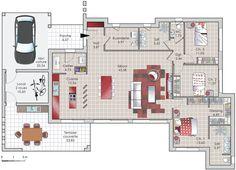 Plan habillé  - maison - Une contemporaine conviviale