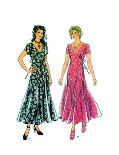 New Look 6248 (Simplicity)  Romantic Day Dress Sewing Pattern Slimming A-line Cocktail  Size 8-10-12-14-16-18 UNCUT by FindCraftyPatterns on Etsy