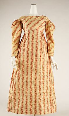 Dress Date: ca. 1830 Culture: American Medium: cotton Dimensions: Length at CB: 48 in. (121.9 cm) Credit Line: Gift of Lee Carter Morse and Matthew Flesh Morse, 1950 Accession Number: C.I.50.102.4