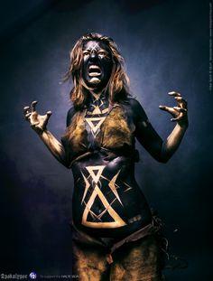 https://flic.kr/p/DhTsef | Apokalypse | facebook : www.facebook.com/freespiritcrew website : www.freespiritcrew.com #Apokalypse #Free #Spirit #instinct #Savages #Sauvage #black #or #noir #dark #gold #inkedskin #body #art #marginal #tattoo #tatouage #makeup #mua #body #painting #faceprinting #chaos
