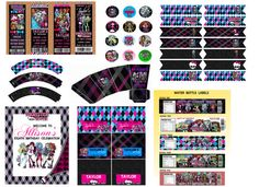 Monster High Birthday Party Package  Digital by ADTRCustomDesigns, $14.75
