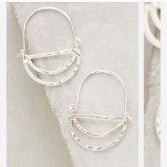 Tired crescent hoops Tired crescent hoops Anthropologie Jewelry Earrings