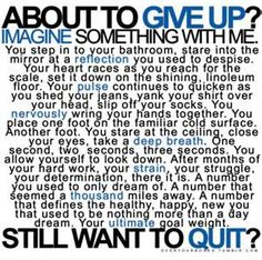 This has been a great motivator for me when I'm just looking for excuses to skip my workout or to neglect my nutrition plan!