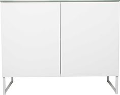Oliivi sidobord large – 2 dörrar, vit från Nurmela hos ConfidentLiving.se