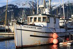 Fishing Boat in harbor. Haines, Alaska