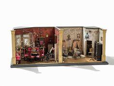 Gottschalk Marienberg, Doll House, Furnishing & Dolls, c. 1900