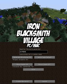 Iron Blacksmith Village in forest/taiga biome for #Minecraft PC/Mac. Seed: EXTREME