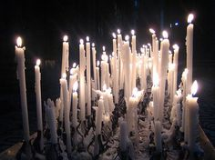 """For a """"Phantom of the Opera"""" feel, try loading up on thin white candles."""