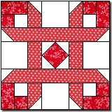 "Ribbon Puzzle. Original design by Marcia Hohn. This makes a 16"" block! This is an original pattern. Please abide by the"