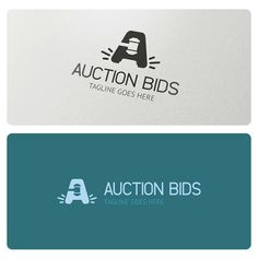 Auction Bids Logo is highly suitable for online online auctions, auctioneer, legal, law attorney, judge, law firm and similar.