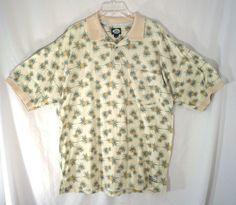 TOMMY BAHAMA VINTAGE The Original POLO Yellow HAWAIIAN Mens Shirt  SIZE L  #TommyBahama #Hawaiian