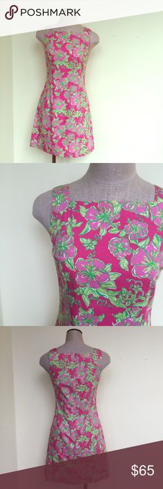 Lilly Pulitzer dress Beautiful Lilly Pulitzer dress. Perfect for the upcoming Spring season.  Zipper back. Pre-worn condition. Size 2.  No trades. Lilly Pulitzer Dresses