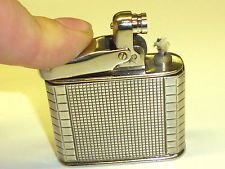 IBELO MONOPOL ART DECO WICK PETROL LIGHTER W. 835 SILVER CASE - 1952 - GERMANY