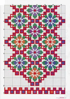 How to Crochet Wave Fan Edging Border Stitch - Crochet Ideas Cross Stitch Geometric, Cross Stitch Bird, Beaded Cross Stitch, Cross Stitch Borders, Cross Stitch Flowers, Cross Stitch Designs, Cross Stitching, Cross Stitch Embroidery, Embroidery Patterns