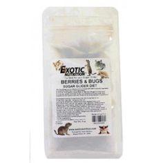 BERRIES & BUGS (BACCHE E INSETTI)  Supplemento dieta Best seller da EXOTIC NUTRITION, come alimento completo ricco di proteine sulla base di insetti, larve , frutti di bosco e alimenti disidratati . I petauri  dello zucchero lo amano!  http://www.todopetauros.com/it/vedi-tutti-i-prodotti/55-berries-bugs.html