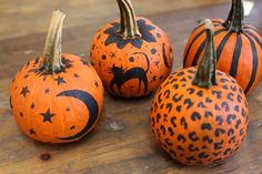 painted halloween pumpkins, I like it but maybe cuter out certain areas
