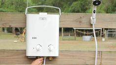 """Enjoy a hot outdoor shower anywhere. This is an awesome """"outdoor shower"""" option! We used it for several months while our only bathroom was being remodeled. Would highly recommend it!"""